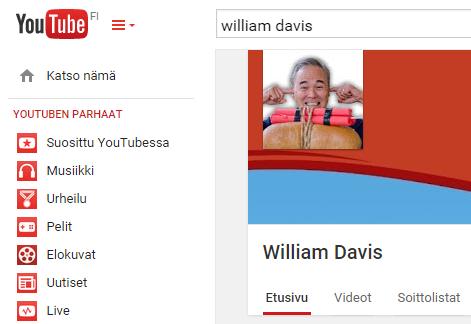 Kuvakaappaus Davisin YouTube-tililtä.