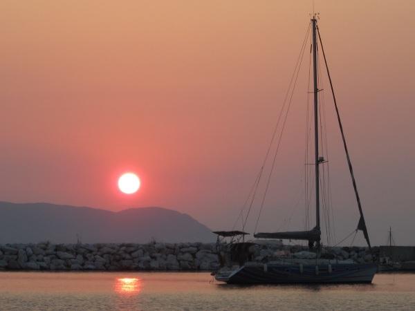 aurinko ja vene