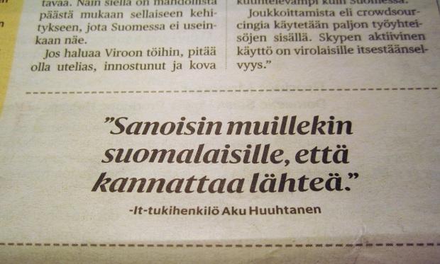 töihin Viroon