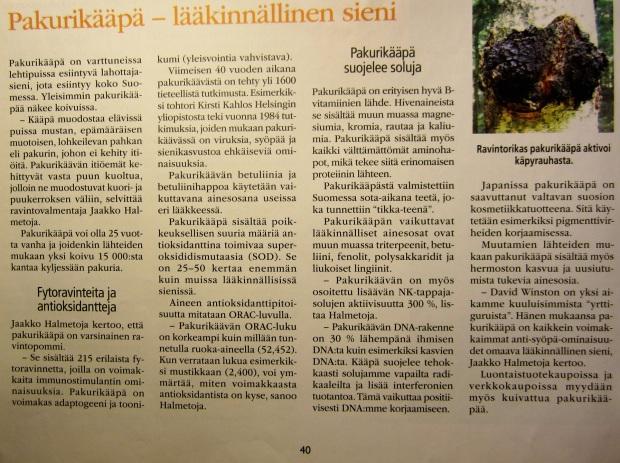 Artikkeli Luontaisterveys-lehdestä