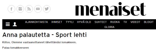Sport-lehden palaute