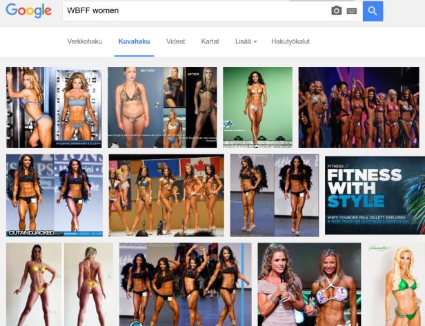 Kuvia fitnesskisojen WBFF-sarjasta.