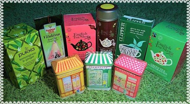 Vihreää ja muuta teetä.