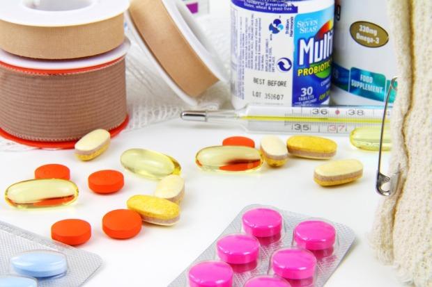 vitamiineja ja tabletteja