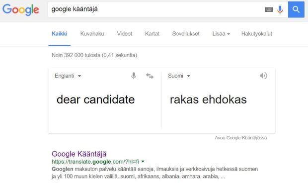 googlen kaannos