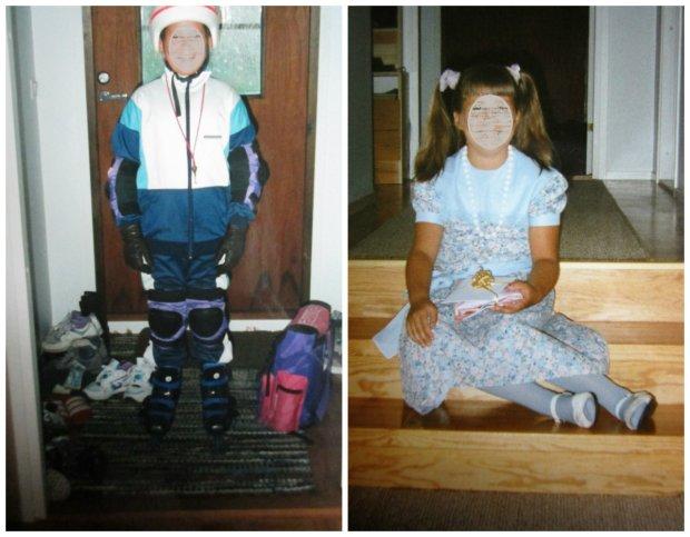 Minä 10-vuotiaana.