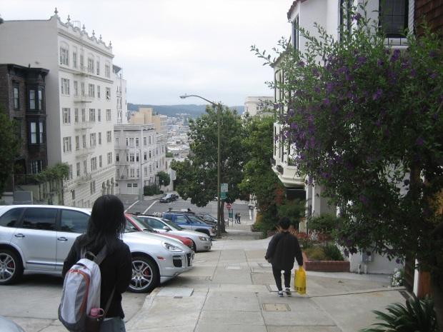 San Francisco vuonna 2008 ja ystäväni (vasemmalla).