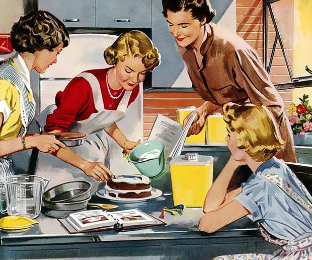 naiset-kotitoissa