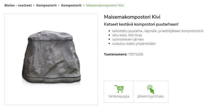 Lähde: http://www.biolan.fi/tuotteet/kompostorit/kompostorit/maisemakompostori-kivi.html